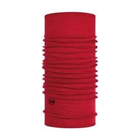 Buff Lightweight Merino Wool Schal Mütze Tuch aus Merinowolle solid red