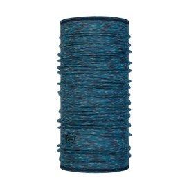 Buff Lightweight Merino Wool Schal Mütze Tuch aus Merinowolle lake blue multi stripes
