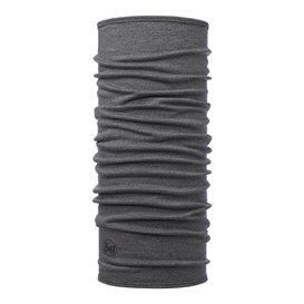 Buff Midweight Merino Wool Schal Mütze Tuch aus Merinowolle light grey melange
