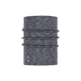 Buff Heavyweight Merino Wool Schal Mütze Tuch aus Merinowolle fog grey multi stripes