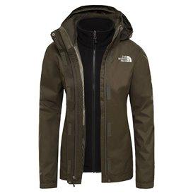 The North Face Evolve II Triclimate Jacket Damen 3in1 Doppeljacke Winterjacke taupe-black