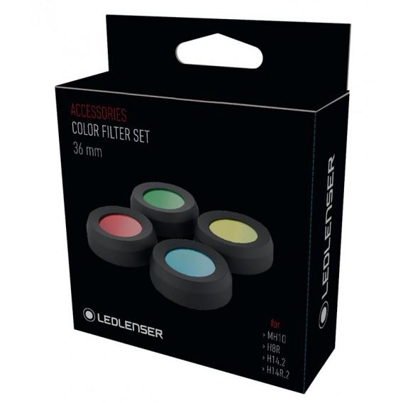 Ledlenser Color Filter Set 36mm für MH10 und Neo10R hier im Ledlenser-Shop günstig online bestellen