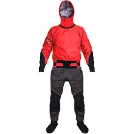 Hiko Odin 402 Hood Paddeljacke mit Hose Trocken- Paddelanzug mit Kapuze red