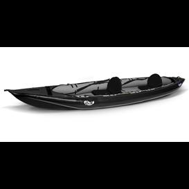 Gumotex Rush II Kajak 2er Drop-Stitch Schlauchboot Nitrilon Luftkajak schwarz