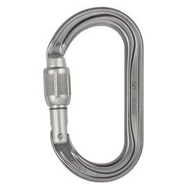 Petzl OK ovaler Karabiner für Seilrollen und Seilklemmen mit Screw-Lock