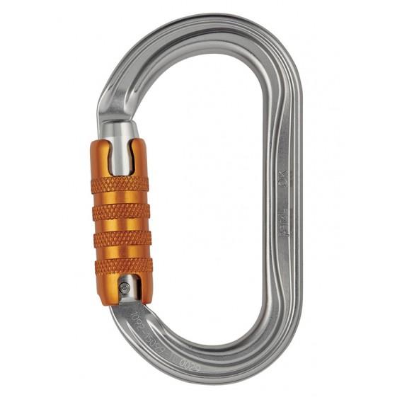 Petzl OK ovaler Karabiner für Seilrollen und Seilklemmen mit Triact-Lock hier im Petzl-Shop günstig online bestellen