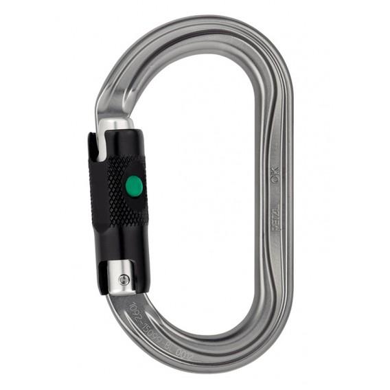 Petzl OK ovaler Karabiner für Seilrollen und Seilklemmen mit Ball-Lock hier im Petzl-Shop günstig online bestellen