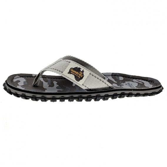 Gumbies Grey Camouflage Zehentrenner Badelatschen Sandale grau hier im Gumbies-Shop günstig online bestellen