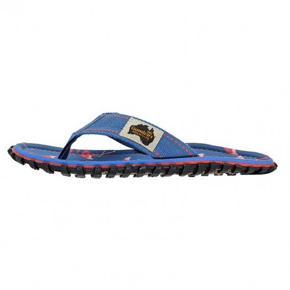 Gumbies Flamingo Kids Kinder Zehentrenner Badelatschen Sandale blau hier im Gumbies-Shop günstig online bestellen