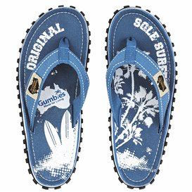 Gumbies Palm Kinder Zehentrenner Flip-Flops Sandale blau