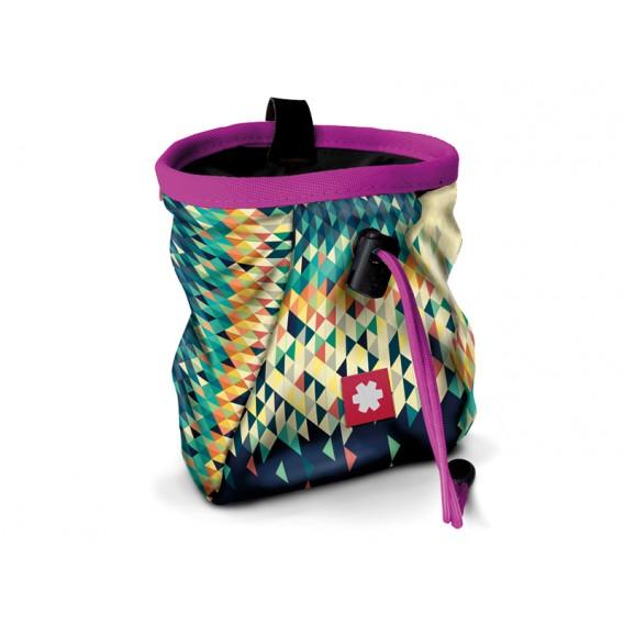 Ocun Lucky + Belt Chalkbag Beutel für Kletterkreide triangle-pink im ARTS-Outdoors Ocun-Online-Shop günstig bestellen