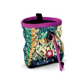 Ocun Lucky + Belt Chalkbag Beutel für Kletterkreide triangle-pink