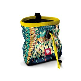 Ocun Lucky + Belt Chalkbag Beutel für Kletterkreide triangle-yellow