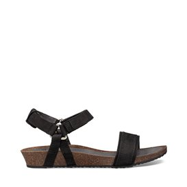Teva Mahonia Stitch Damen Leder Sandale Freizeitsandale black