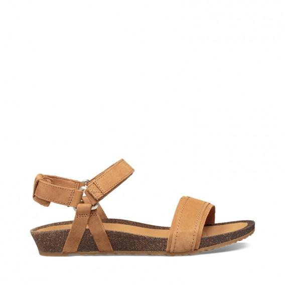Teva Mahonia Stitch Damen Leder Sandale Freizeitsandale chipmunk hier im Teva-Shop günstig online bestellen