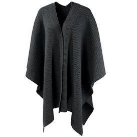 Mufflon Wrap Damen Merino Poncho anthrazit im ARTS-Outdoors Mufflon-Online-Shop günstig bestellen