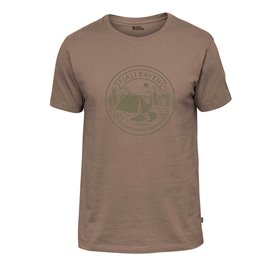 Fjällräven Lägerplats T-Shirt Herren Freizeit und Outdoor Kurzarm Shirt dark sand