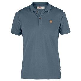 Fjällräven Övik Polo Shirt Herren Freizeit und Outdoor Kurzarm Shirt dusk