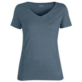 Fjällräven Abisko Cool T-Shirt Damen Freizeit und Outdoor Kurzarm Shirt dusk