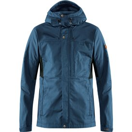 Fjällräven Kaipak Jacket Herren Übergangsjacke uncle blue-dark grey