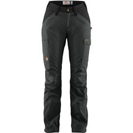Fjällräven Kaipak Trousers Curved Damen Wanderhose Trekkinghose dark grey-black hier im Fjällräven-Shop günstig online bestellen