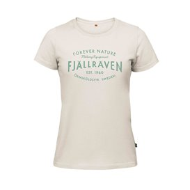 Fjällräven Est 1960 T-Shirt Damen Freizeit und Outdoor Kurzarm Shirt chalk white