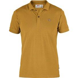 Fjällräven Övik Polo Shirt Herren Freizeit und Outdoor Kurzarm Shirt ochre