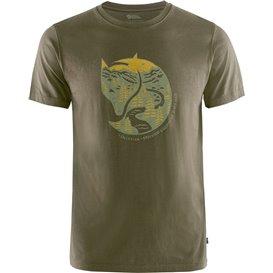 Fjällräven Arctic Fox T-Shirt Herren Freizeit und Outdoor Kurzarm Shirt dark olive