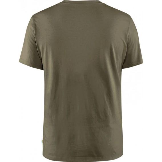 Fjällräven Arctic Fox T-Shirt Herren Freizeit und Outdoor Kurzarm Shirt dark olive hier im Fjällräven-Shop günstig online bestel