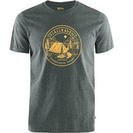 Fjällräven Lägerplats T-Shirt Herren Freizeit und Outdoor Kurzarm Shirt stone grey