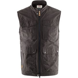 Fjällräven Travellers MT Vest Herren Outdoor Weste dark grey