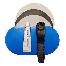 Aqua Marina SUP Repair Kit Flicken mit Ventilschlüssel und Kleber blau-grau