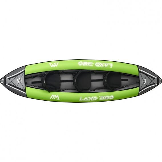Aqua Marina Laxo 380 3er Kajak Schlauchboot Set mit Paddel und Pumpe