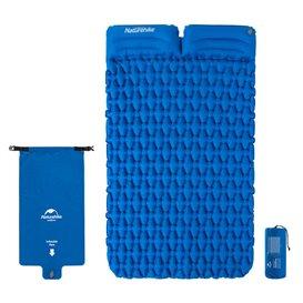 Naturehike ultraleicht Luftmatratze für 2 Personen Reisebett mit Kissen blue