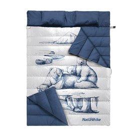 Naturehike Schlafsack für 2 Personen Deckenschlafsack mit Kissen