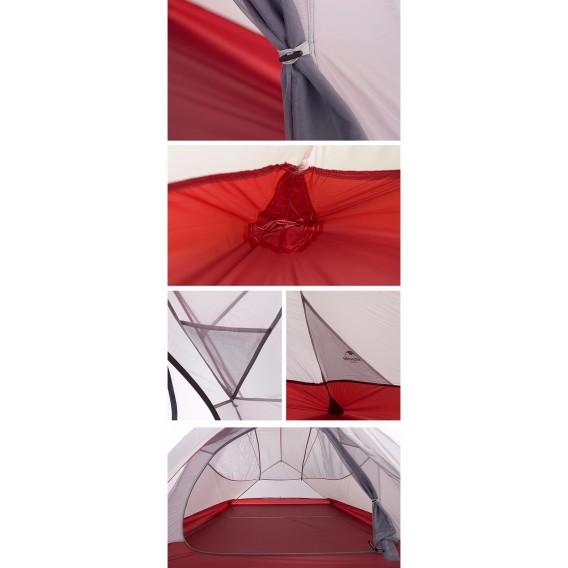 Naturehike Cloud Up 3 SI Updated Zelt 3 Personen Kuppelzelt grey-red hier im Naturehike-Shop günstig online bestellen