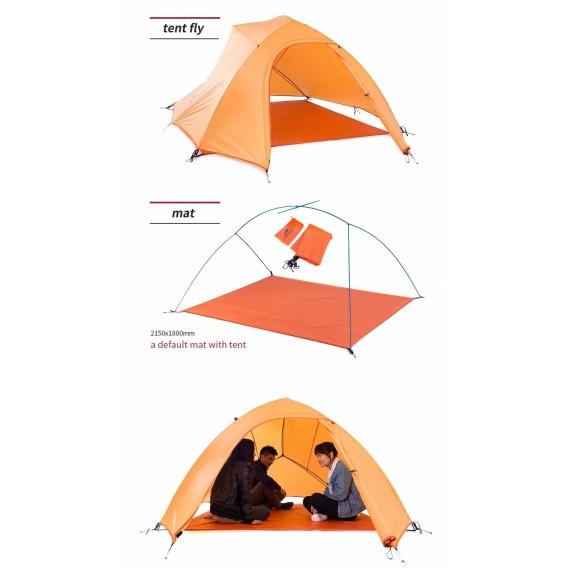 Naturehike Cloud Up 3 PU Updated Zelt 3 Personen Kuppelzelt orange hier im Naturehike-Shop günstig online bestellen
