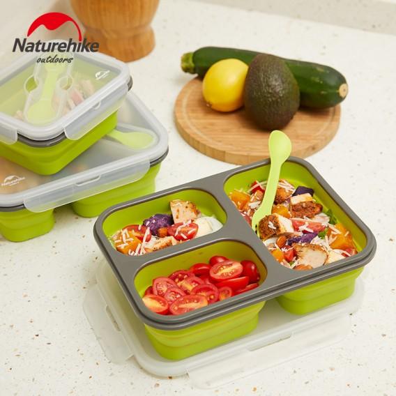 Naturehike Silikon Brotdose Lunchbox faltbar mit Besteck M hier im Naturehike-Shop günstig online bestellen