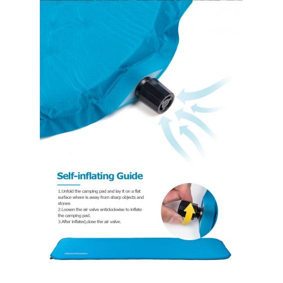 Naturehike Squared selbstaufblasende Isomatte blau hier im Naturehike-Shop günstig online bestellen