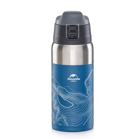 Naturehike Vacuum Cup 600ml Isolierflasche Trinkflasche blue-white