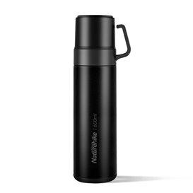 Naturehike Thermoskanne Isolierflasche mit zwei Bechern 600ml black hier im Naturehike-Shop günstig online bestellen