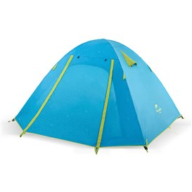 Naturehike P-Series Knurling PU Tent Zelt 4 Personen Igluzelt sea blue