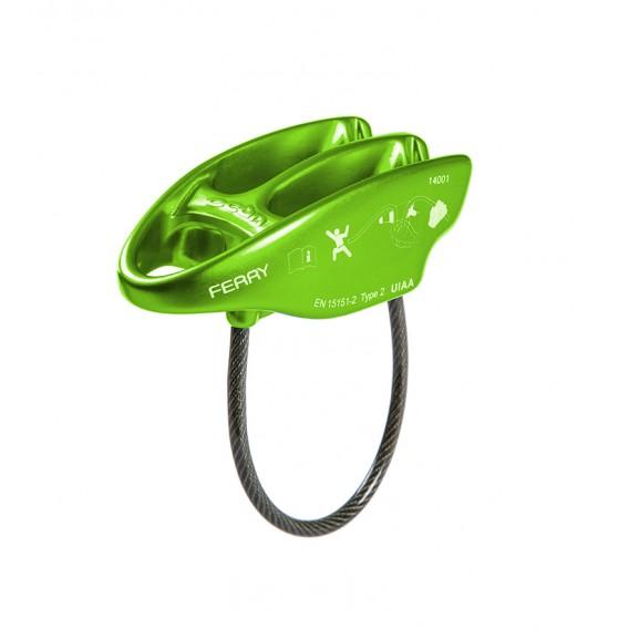 Ocun Ferry Sicherungsgerät Abseilgerät grün hier im Ocun-Shop günstig online bestellen
