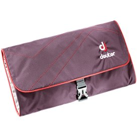 Deuter Wash Bag II Kulturbeutel aubergine-fire