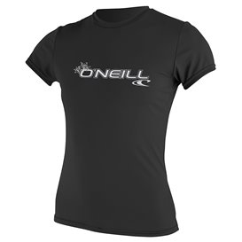 ONeill Women Basic Skins Shortsleeve Sun Shirt Damen Rashguard black