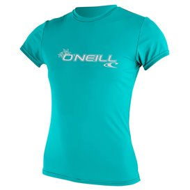 ONeill Women Basic Skins Shortsleeve Sun Shirt Damen Rashguard light aqua