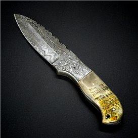 AO Equipment Jagdmesser Gürtelmesser 512 Lagen Damast Horngriff hier im ARTS-Outdoors-Shop günstig online bestellen