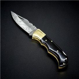 AO Equipment 512 Lagen Damast Taschenmesser Klappmesser Büffelhorn hier im ARTS-Outdoors-Shop günstig online bestellen