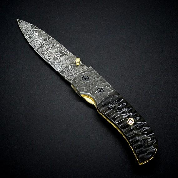 AO Equipment Taschenmesser 512 Lagen Damast Klappmesser Micarta schwarz hier im ARTS-Outdoors-Shop günstig online bestellen