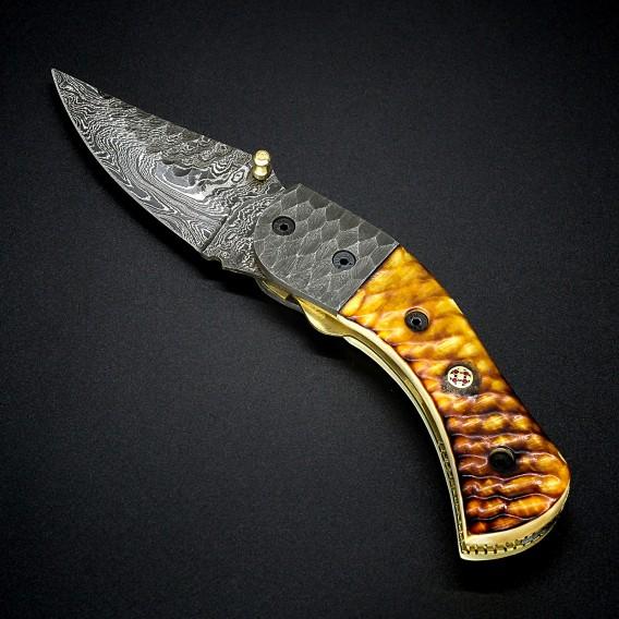 AO Equipment Damast Taschenmesser 512 Lagen Klappmesser Holz dunkelbraun hier im ARTS-Outdoors-Shop günstig online bestellen